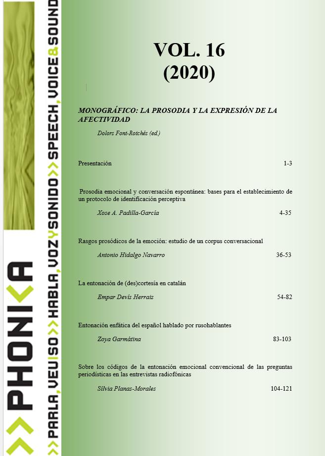 Veure Vol. 16 (2020): La prosòdia i l'expressió de l'afectivitat
