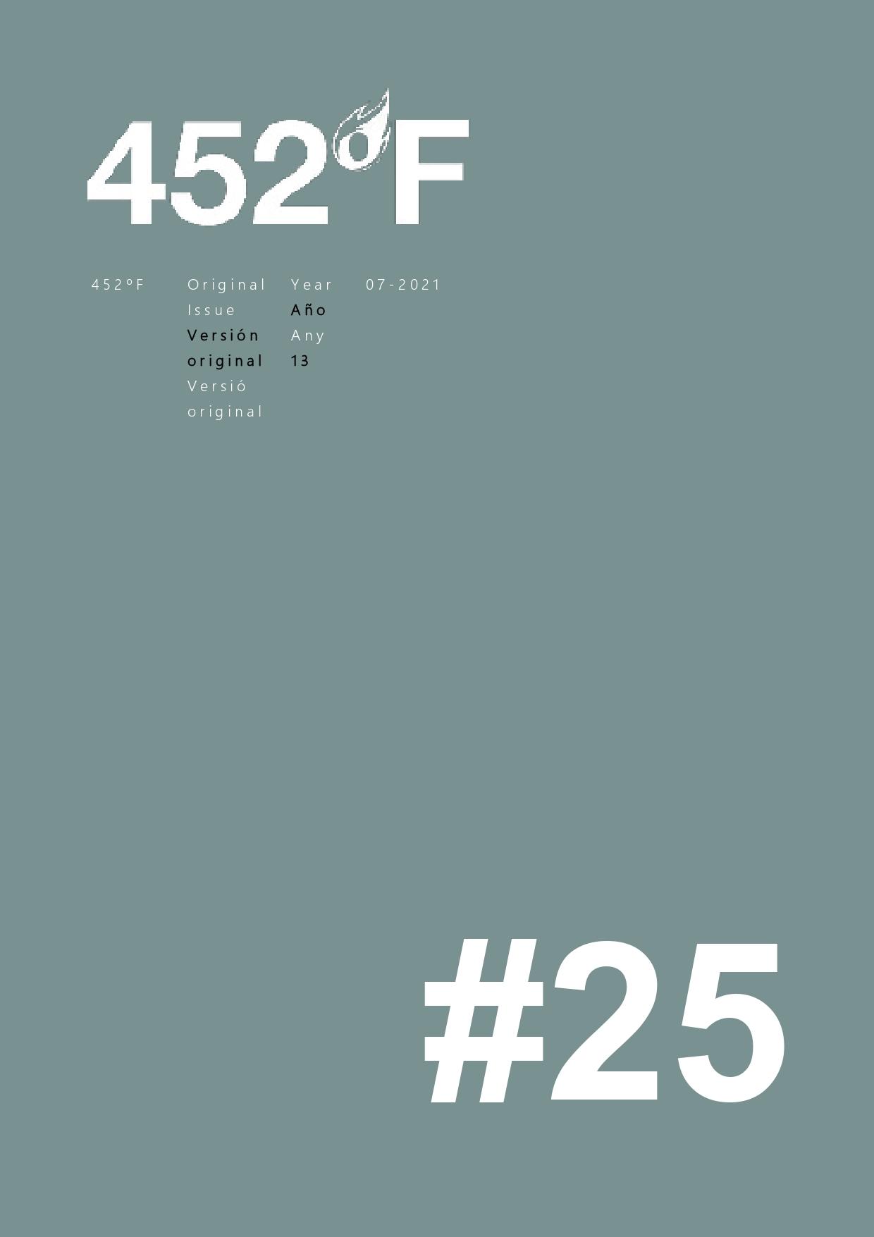 Ver Núm. 25 (2021): Crisis, pandemias y contrahegemonía: cambios de paradigma en la literatura mundial