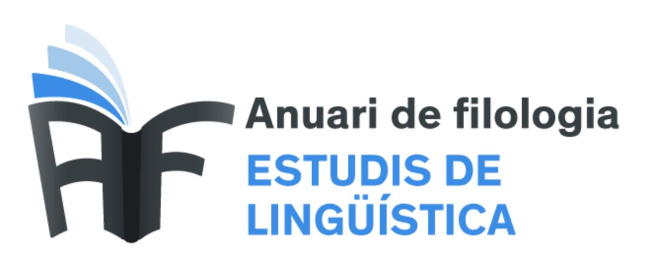 ANUARI DE FILOLOGIA. ESTUDIS DE LINGÜÍSTICA