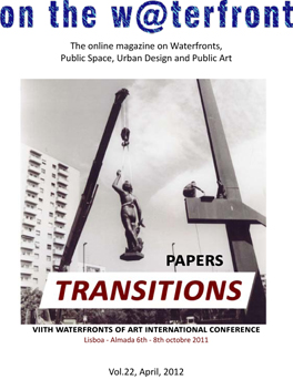 View No. 22 (2012): Papers. Transitions. VIIth Waterfronts of Art International Conference