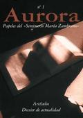 Veure No 1 (1999): La mujer y las figuras femeninas en la obra de María Zambrano